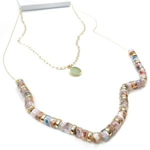 Loft Multicolored Resin Pendant Necklace Set
